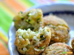 Crocchette vegetariane di riso e zucchine al sesamo (cotte in forno)