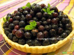 Crostata di uva fragola con cioccolato e yogurt... e frolla ancora più scientifica!