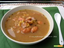 Zuppa di castagne e fagioli borlotti
