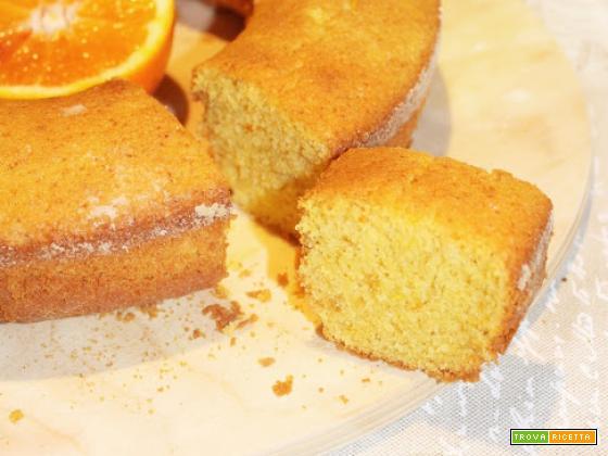 Ciambellone (gluten free) di Riso, profumato all'Arancia