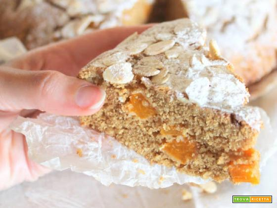 Torta di Albicocche, Vaniglia e Mandorle (senza latte, burro né zuccheri raffinati)