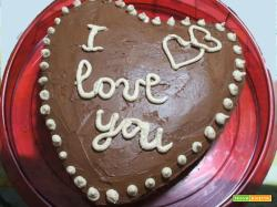 Torta a cuore alla crema nocciola e ganache cioccolato di Giallo Zafferano