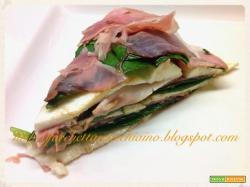 Torta di prosciutto mozzarella e spinacini