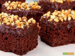 Brownies al cioccolato e granella di nocciole
