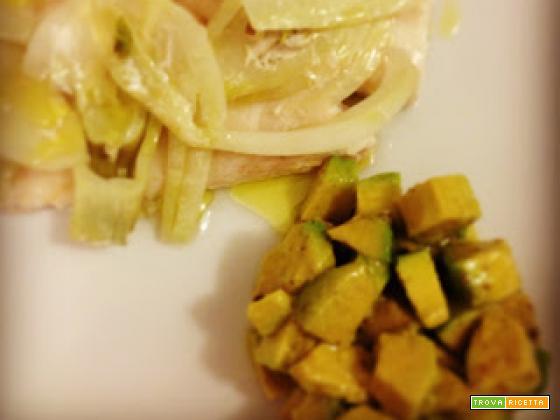 filetti di cernia e avocado