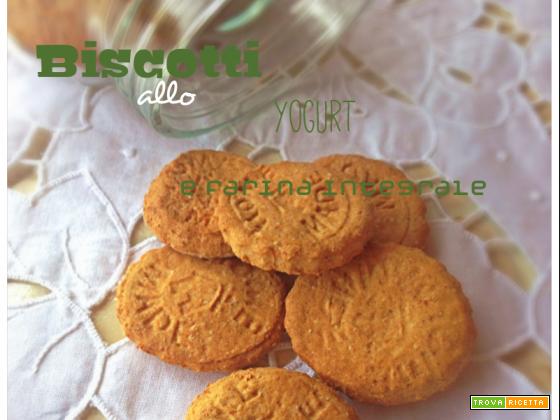 Biscotti yogurt e farina integrale