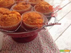 Muffin salati...mortadella & cheddar...al profumo di curcuma
