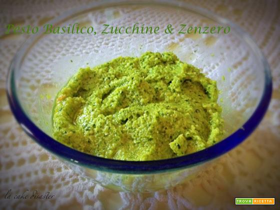 Pesto basilico, zucchine e zenzero