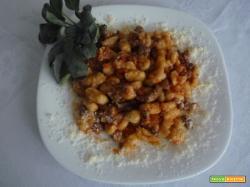 GNOCCHI FATTI IN CASA CON SALSICCIA