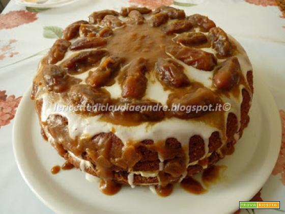 Torta di datteri con crema al mascarpone
