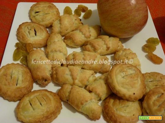 Mini sfogliatine con mele, uvetta e profumo di cannella, veloci