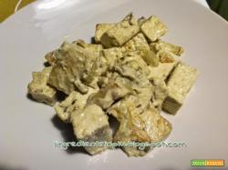 Dadolata di tofu in crema speziata