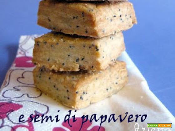 Biscotti al parmigiano e semi di papavero