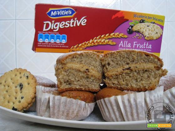 Muffin ripieni di biscotti McVitie's Digestive alla Frutta