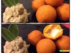 Polpettine di zucca e taleggio con maionese di melanzane
