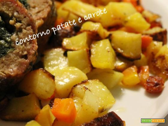 Contorno patate e carote al forno
