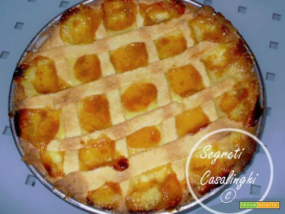 crostata crema pasticcera marmellata, crostata albicocche