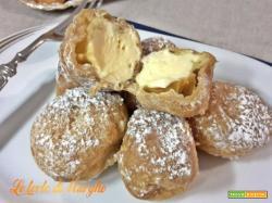 Frittelle alla crema zabaione