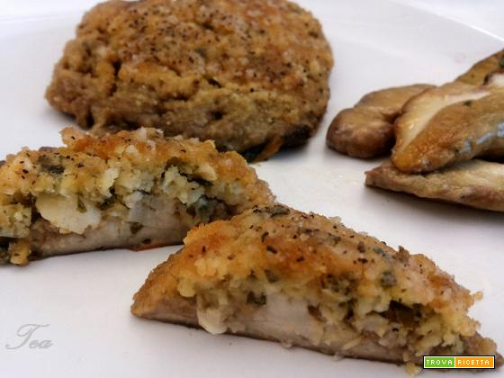 Cappelle di Funghi Porcini gratinate al forno