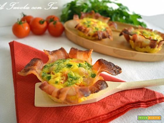 Cestini di Pancetta con Frittatina