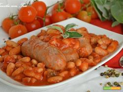 Salsicce e fagioli alla Toscana