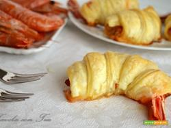 Gamberi con pancetta in crosta di sfoglia