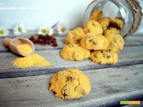 Biscotti Gialletti con farina di mais uvetta e pinoli SENZA GLUTINE