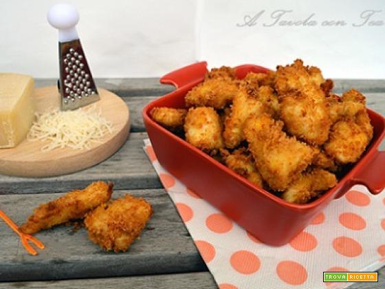 Bocconcini di pollo con panatura al formaggio