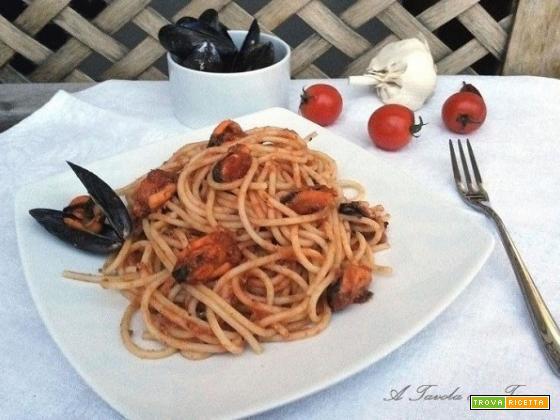 Spaghettoni con Ragu di Cozze
