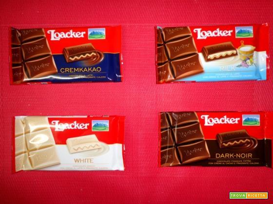 Il Cioccolato Loacker: cioccolato, crema e wafer in quattro varianti