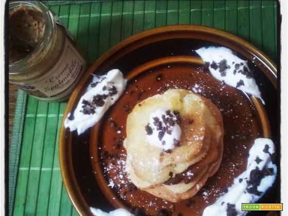 Pancakes mini mandorla e limoncello