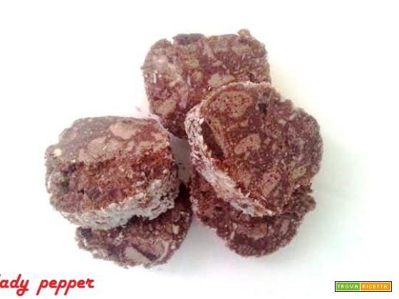 Salame cioccolato e cocco (senza uova)