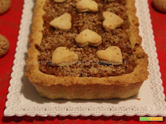 Crostata con confettura di zucca e amaretti