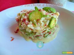 Risotto zucchine e bresaola