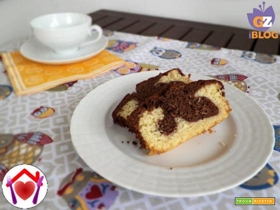 Ciambella bicolore al mascarpone e cioccolato fondente