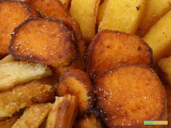 Batata doce frita (Patata americana fritta)