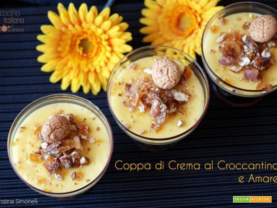 Coppa di crema al croccantino e amaretto