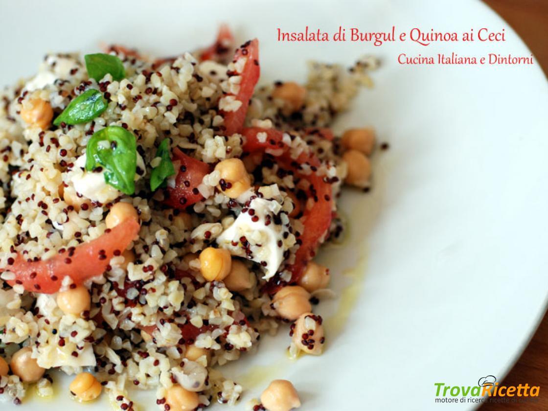 Ricetta Quinoa E Bulgur.Insalata Di Bulgur E Quinoa Con Ceci E Mozzarella Ricetta Trovaricetta Com
