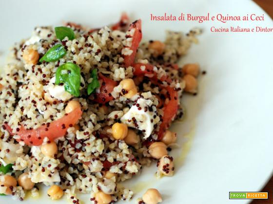 Insalata di Bulgur e Quinoa con Ceci e Mozzarella