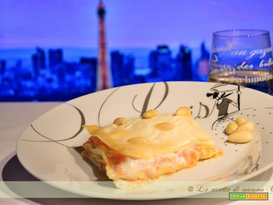 lasagne zucca e mandorle