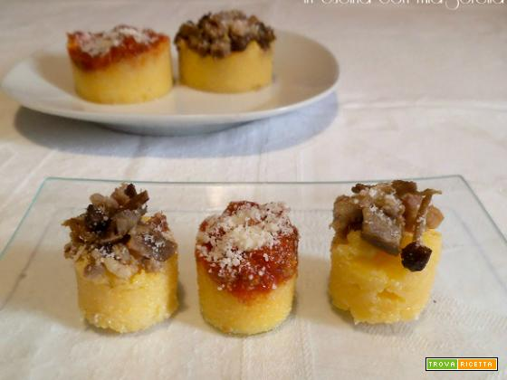 Dischetti di polenta saporiti