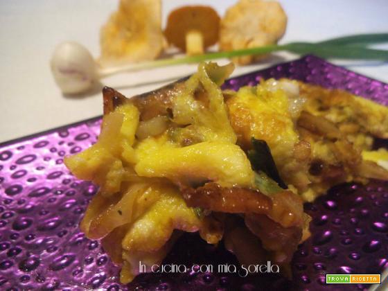 Frittata con aglietto fresco e galletti