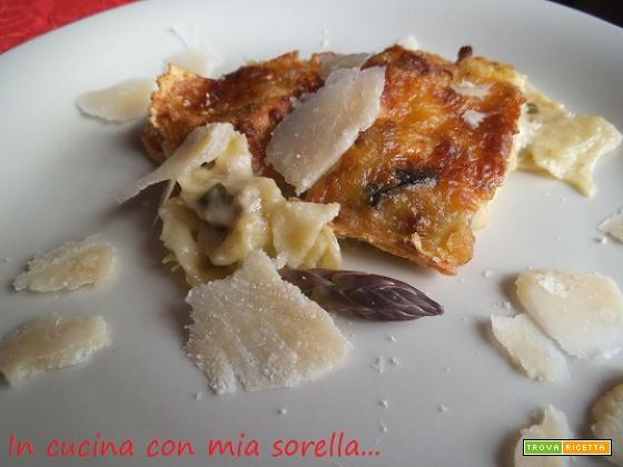 Lasagne bianche salsiccia ed asparagi| Ricetta raffinata