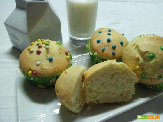 Muffin arlecchino al limone