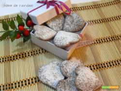 cuori di biscotti a l cioccolato