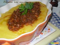 polenta con sugo di polpo