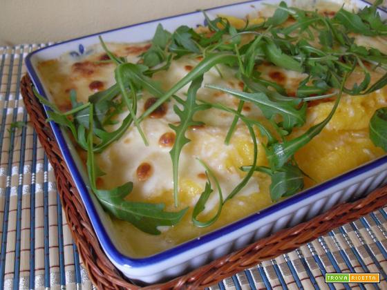 polenta gratinata con formaggio fuso di pecora
