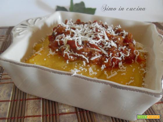 polenta al ragù di carne