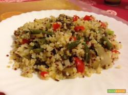 Burghul e quinoa alle verdure