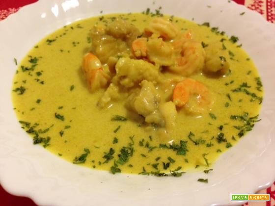 Coda di rospo al curry con latte di cocco